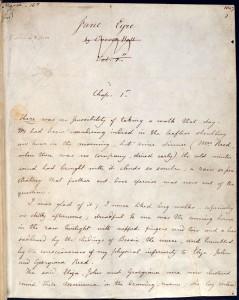 manuscript Jane Eyre